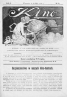 Kino : pismo ilustrowane poświęcone sztuce kinematograficznej i pokrewnym. R. 1, nr 11 (22 maja 1919)