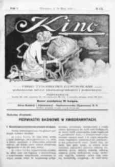 Kino : pismo ilustrowane poświęcone sztuce kinematograficznej i pokrewnym. R. 1, nr 12 (29 maja 1919)