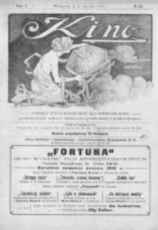 Kino : pismo ilustrowane poświęcone sztuce kinematograficznej i pokrewnym. R. 1, nr 15 (19 czerwca 1919)