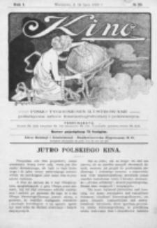 Kino : pismo ilustrowane poświęcone sztuce kinematograficznej i pokrewnym. R. 1, nr 20 (24 lipca 1919)