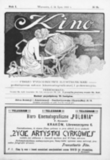 Kino : pismo ilustrowane poświęcone sztuce kinematograficznej i pokrewnym. R. 1, nr 21 (31 lipca 1919)
