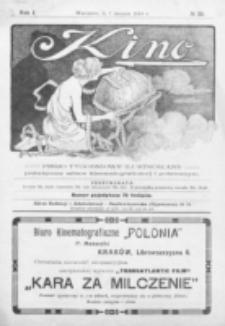 Kino : pismo ilustrowane poświęcone sztuce kinematograficznej i pokrewnym. R. 1, nr 22 (7 sierpnia 1919)