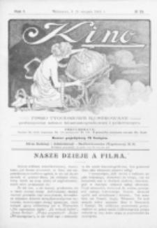 Kino : pismo ilustrowane poświęcone sztuce kinematograficznej i pokrewnym. R. 1, nr 24 (21 sierpnia 1919)