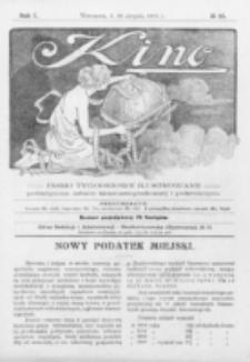 Kino : pismo ilustrowane poświęcone sztuce kinematograficznej i pokrewnym. R. 1, nr 25 (28 sierpnia 1919)