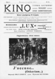 Kino : pismo ilustrowane poświęcone sztuce kinematograficznej i pokrewnym. R. 1, nr 31 (4 grudnia 1919)