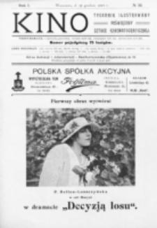 Kino : pismo ilustrowane poświęcone sztuce kinematograficznej i pokrewnym. R. 1, nr 32 (11 grudnia 1919)