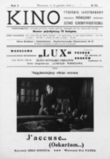 Kino : pismo ilustrowane poświęcone sztuce kinematograficznej i pokrewnym. R. 1, nr 33 (18 grudnia 1919)