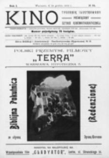 Kino : pismo ilustrowane poświęcone sztuce kinematograficznej i pokrewnym. R. 1, nr 34 (24 grudnia 1919)