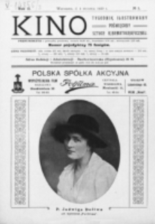 Kino : pismo ilustrowane poświęcone sztuce kinematograficznej i pokrewnym. R. 2, nr 1 (1920)