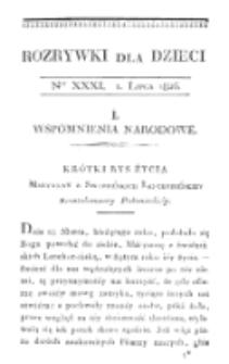 Rozrywki dla Dzieci. R. 5, T. 6, nr 31 (1826)