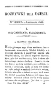 Rozrywki dla Dzieci. R. 5, T. 6, nr 35 (1826)