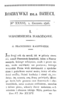Rozrywki dla Dzieci. R. 5, T. 6, nr 36 (1826)