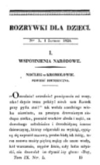 Rozrywki dla Dzieci. R. 5, T. 9, nr 50 (1828)