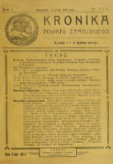 Kronika Powiatu Zamojskiego. R. 1, nr 3/4 (1918)