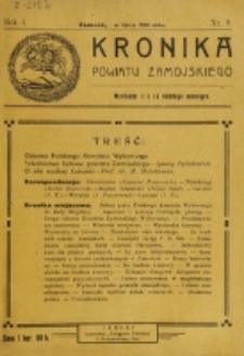 Kronika Powiatu Zamojskiego. R. 1, nr 9 (1918)