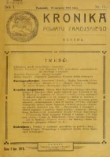 Kronika Powiatu Zamojskiego. R. 1, nr 11 (1918)