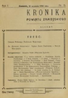 Kronika Powiatu Zamojskiego. R. 1, nr 15 (1918)