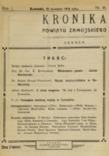 Kronika Powiatu Zamojskiego. R. 1, nr 16 (1918)