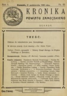Kronika Powiatu Zamojskiego. R. 1, nr 19 (1918)