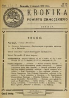 Kronika Powiatu Zamojskiego. R. 1, nr 20 (1918)