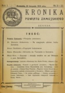 Kronika Powiatu Zamojskiego. R. 1, nr 21/22 (1918)