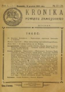 Kronika Powiatu Zamojskiego. R. 1, nr 23/24 (1918)