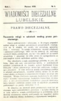 Wiadomości Diecezjalne Lubelskie, R. 1, nr 4 (1919)