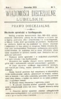 Wiadomości Diecezjalne Lubelskie, R. 1, nr 7 (1919)
