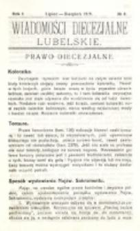 Wiadomości Diecezjalne Lubelskie, R. 1, nr 8 (1919)