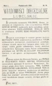 Wiadomości Diecezjalne Lubelskie, R. 1, nr 10 (1919)