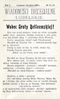 Wiadomości Diecezjalne Lubelskie, R. 1, nr 11/12 (1919)