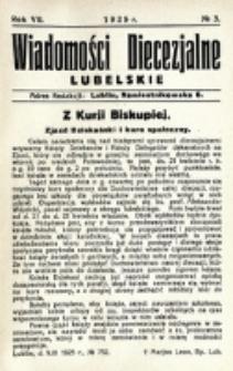 Wiadomości Diecezjalne Lubelskie. R. 7, nr 3 (1925)