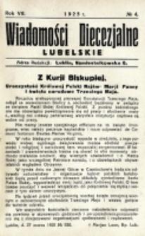 Wiadomości Diecezjalne Lubelskie. R. 7, nr 4 (1925)