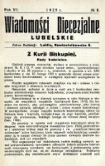 Wiadomości Diecezjalne Lubelskie. R. 7, nr 8 (1925)