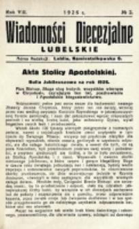 Wiadomości Diecezjalne Lubelskie. R. 8, nr 2 (1926)