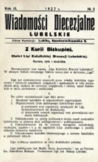 Wiadomości Diecezjalne Lubelskie. R. 9, nr 2 (1927)