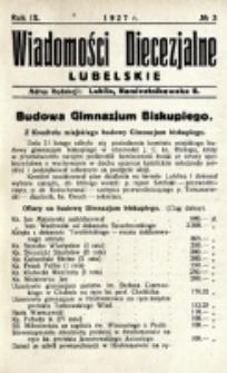 Wiadomości Diecezjalne Lubelskie. R. 9, nr 3 (1927)
