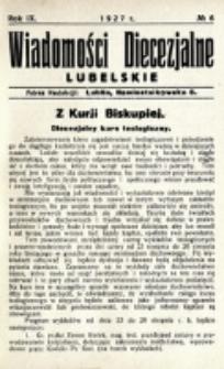 Wiadomości Diecezjalne Lubelskie. R. 9, nr 6 (1927)