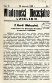 Wiadomości Diecezjalne Lubelskie. R. 10, nr 1 (1928)
