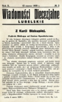 Wiadomości Diecezjalne Lubelskie. R. 10, nr 3 (1928)