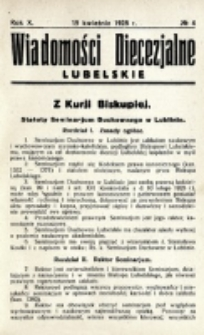 Wiadomości Diecezjalne Lubelskie. R. 10, nr 4 (1928)