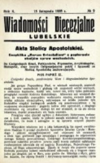 Wiadomości Diecezjalne Lubelskie. R. 10, nr 9 (1928)