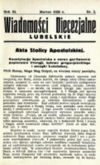 Wiadomości Diecezjalne Lubelskie. R. 11, nr 3 (1929)