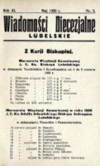 Wiadomości Diecezjalne Lubelskie. R. 11, nr 5 (1929)