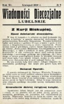 Wiadomości Diecezjalne Lubelskie. R. 11, nr 9 (1929)