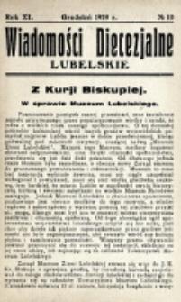 Wiadomości Diecezjalne Lubelskie. R. 11, nr 10 (1929)
