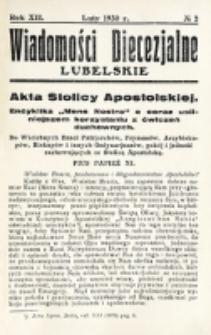 Wiadomości Diecezjalne Lubelskie. R. 12, nr 2 (1930)