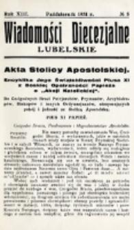 Wiadomości Diecezjalne Lubelskie. R. 13, nr 8 (1931)