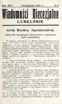 Wiadomości Diecezjalne Lubelskie. R. 14, nr 8 (1932)