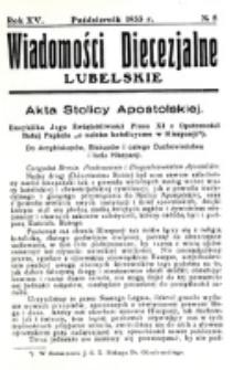 Wiadomości Diecezjalne Lubelskie. R. 15, nr 8 (1933)